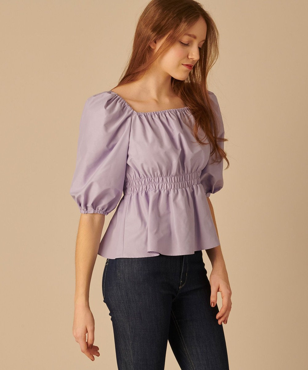TOCCA 【TOCCA LAVENDER】Back Ribbon Puff Blouse ブラウス ライラック系