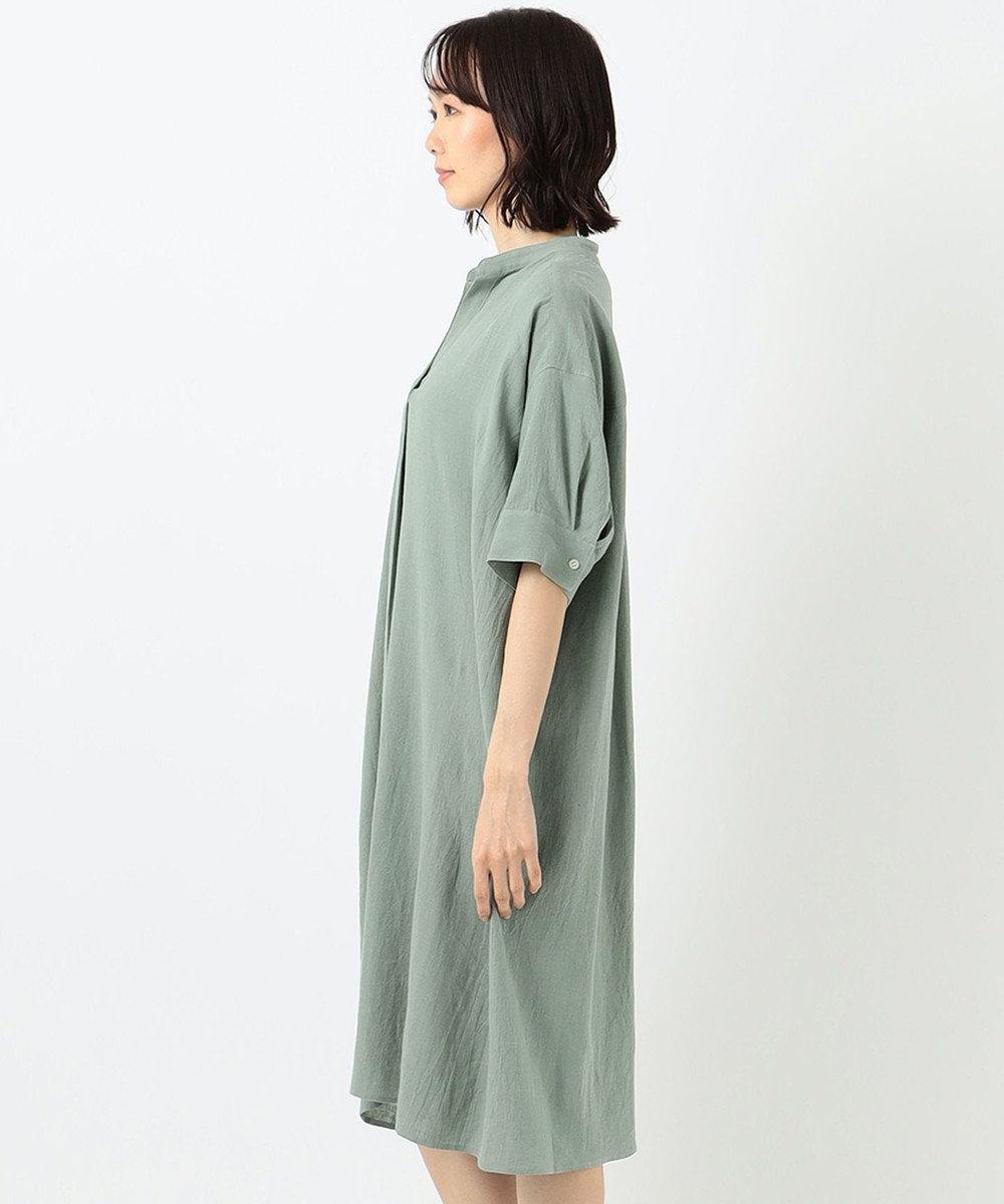 any FAM L 【定番人気】リネンブレンド ワンピース ライトグリーン系
