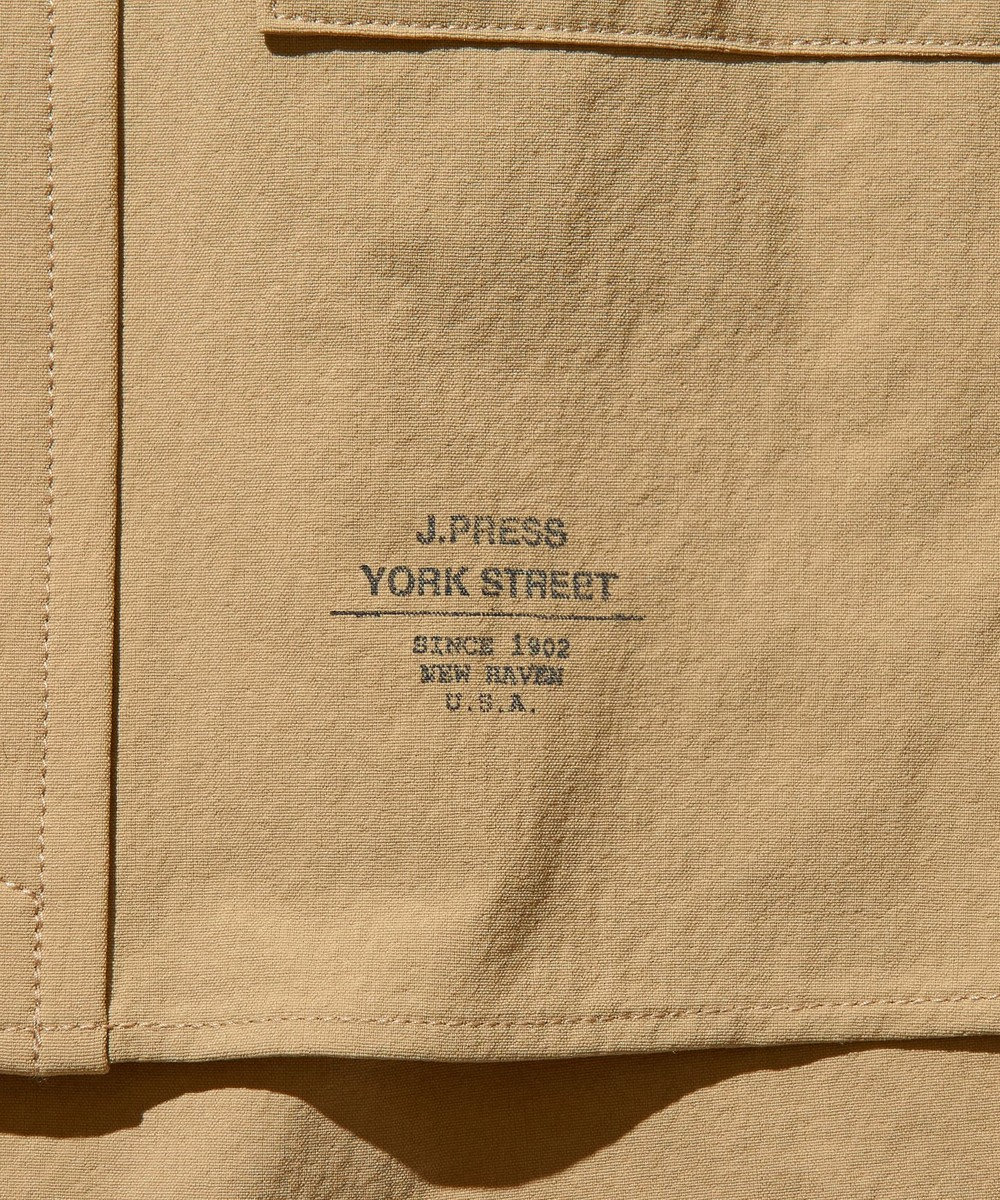 J.PRESS YORK STREET 【UNISEX】NYウェザー バンドカラーシャツ ベージュ系