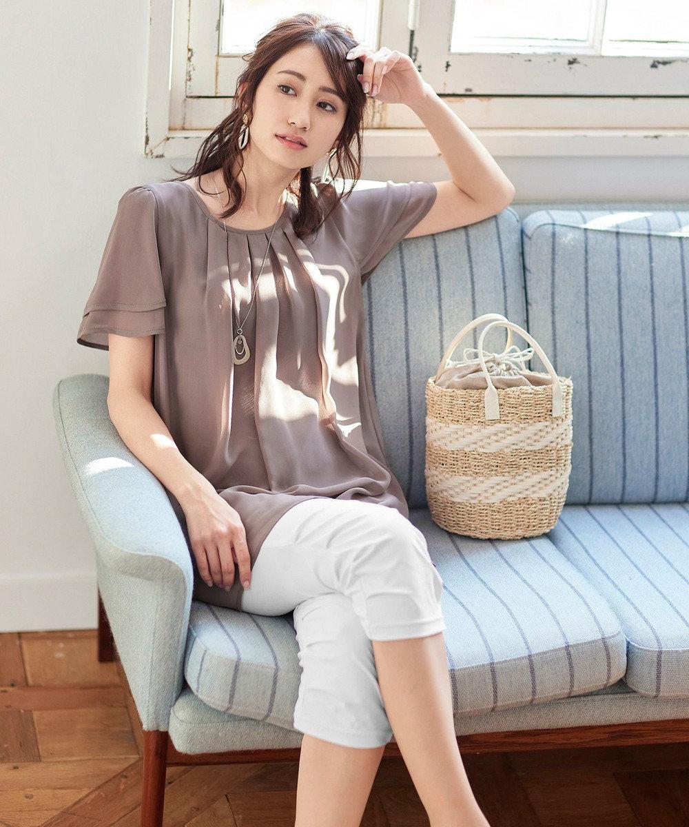 Tiaclasse 【日本製・洗える】UVカット&涼感素材の高機能クロップドパンツ オフホワイト