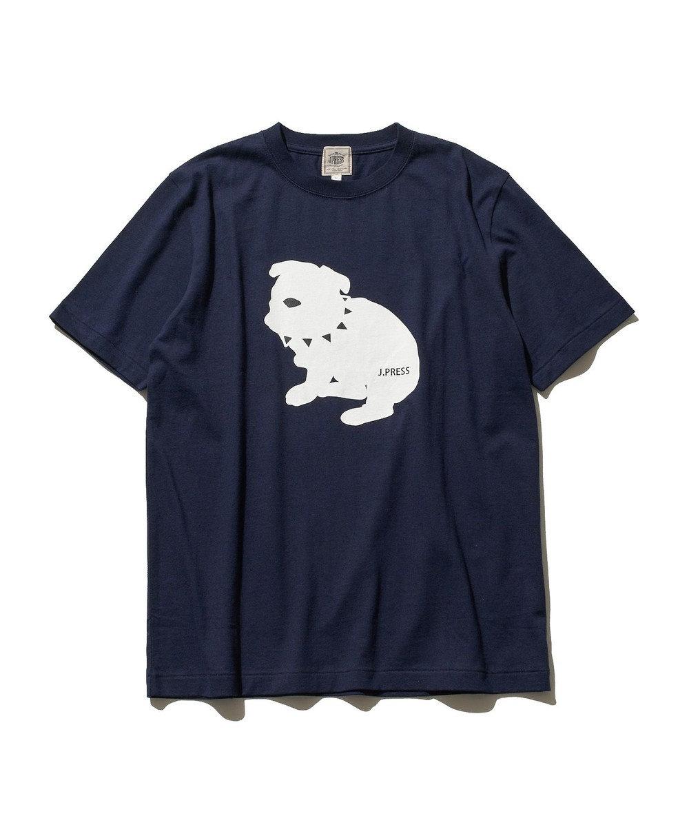 J.PRESS MEN 【UNISEX】newブルドック Tシャツ ネイビー系