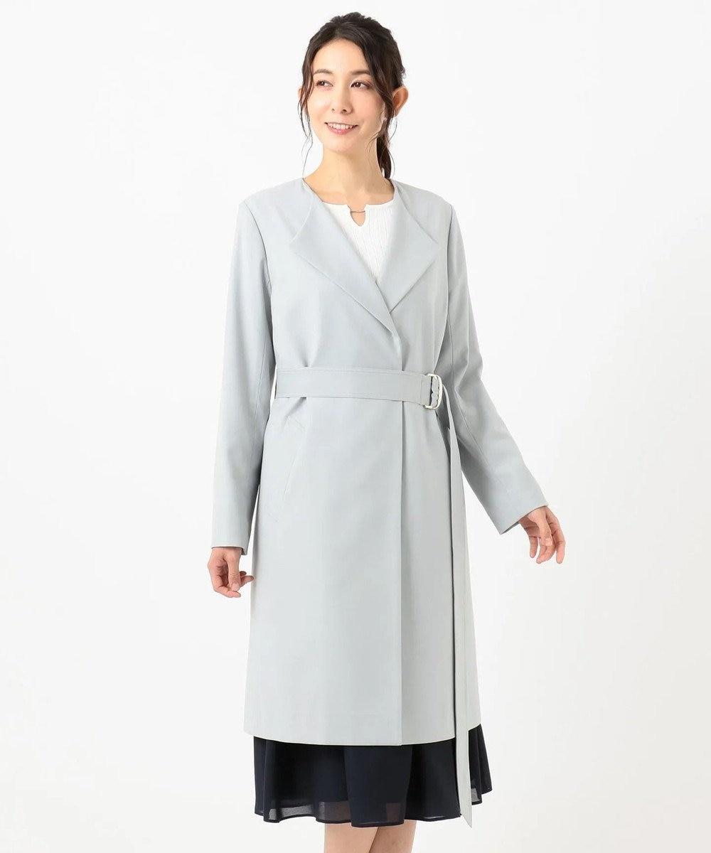 any SiS L ノーカラーライトテロンチ コート ミントグリーン