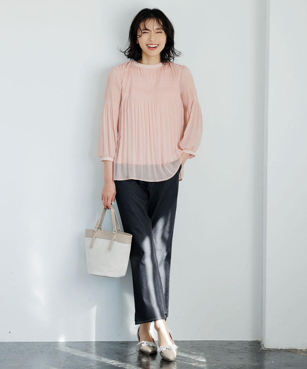 any SiS L 【美人百花5月号掲載】プリーツシフォン ブラウス ピンク系