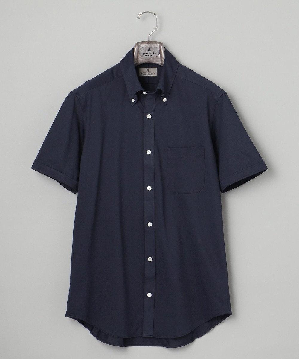 GOTAIRIKU 【COOLBIZ / リモートワークにも】COOLMAX 前開きポロシャツ ネイビー系