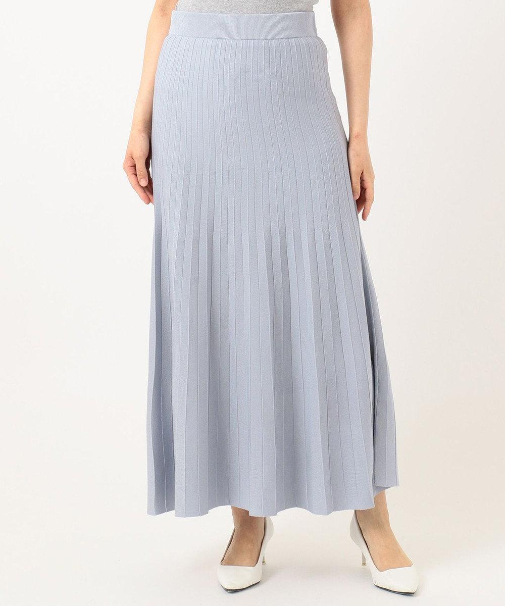 組曲 【セットアップ対応】ライトニットアップ ニットスカート ライトグレー系