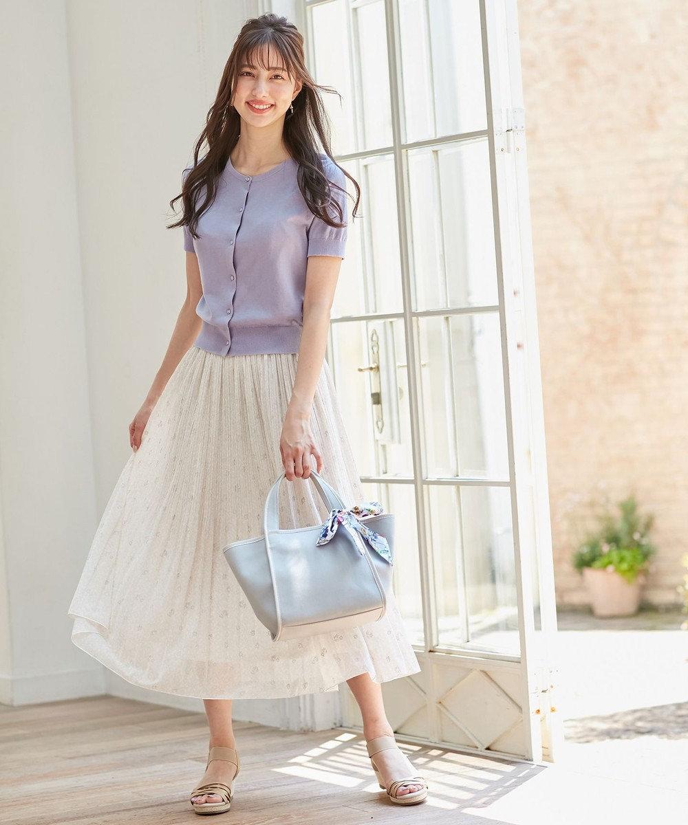 any SiS 【洗える】刺繍風ミニフラワープリント スカート アイボリー系