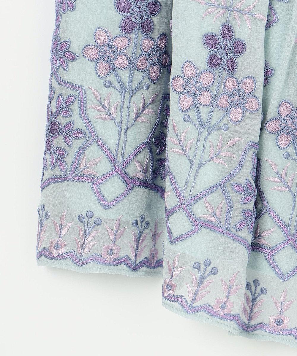 GRACE CONTINENTAL エスニック刺繍ノースリーブ サックス