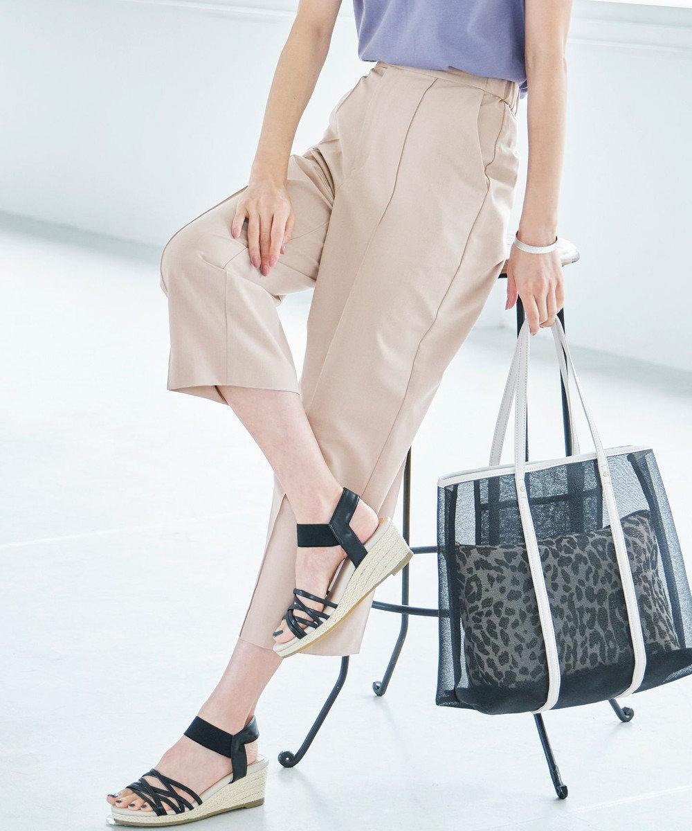 any SiS 【美人百花9月号掲載】ライトストレート パンツ グレージュ