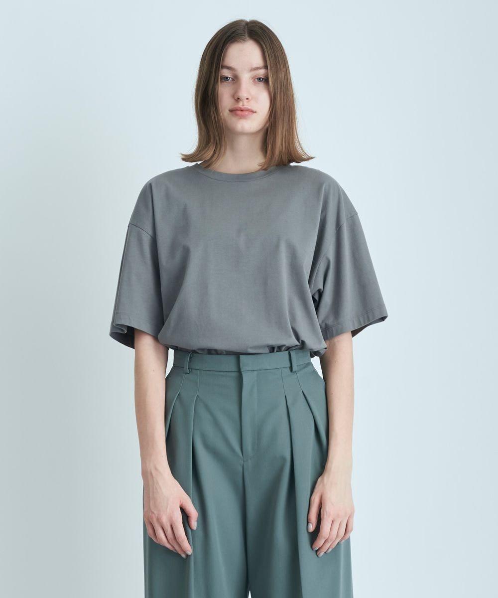 ATON NUBACK COTTON | オーバーサイズTシャツ - UNISEX GRAY