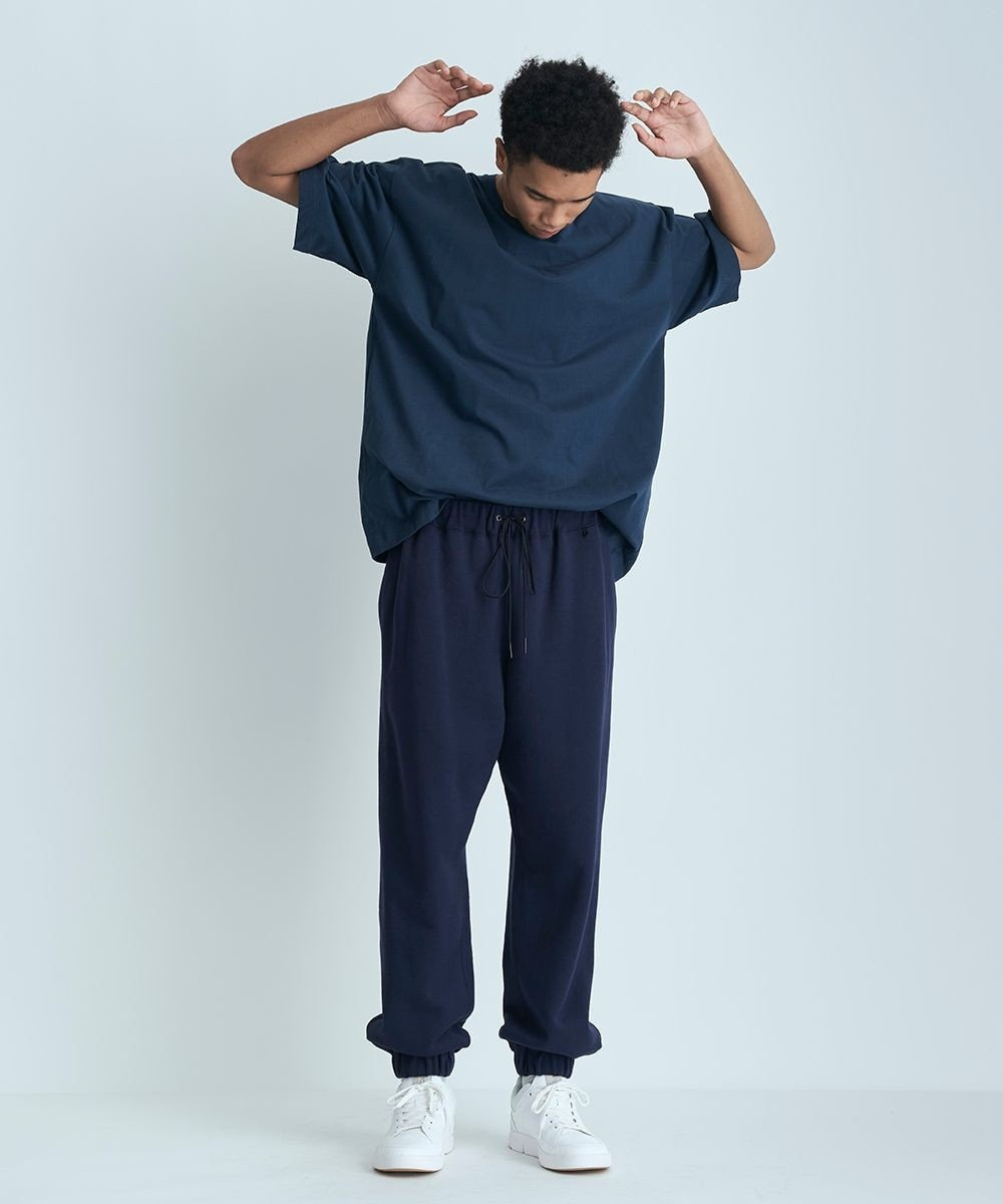 ATON NUBACK COTTON | オーバーサイズTシャツ - UNISEX NAVY