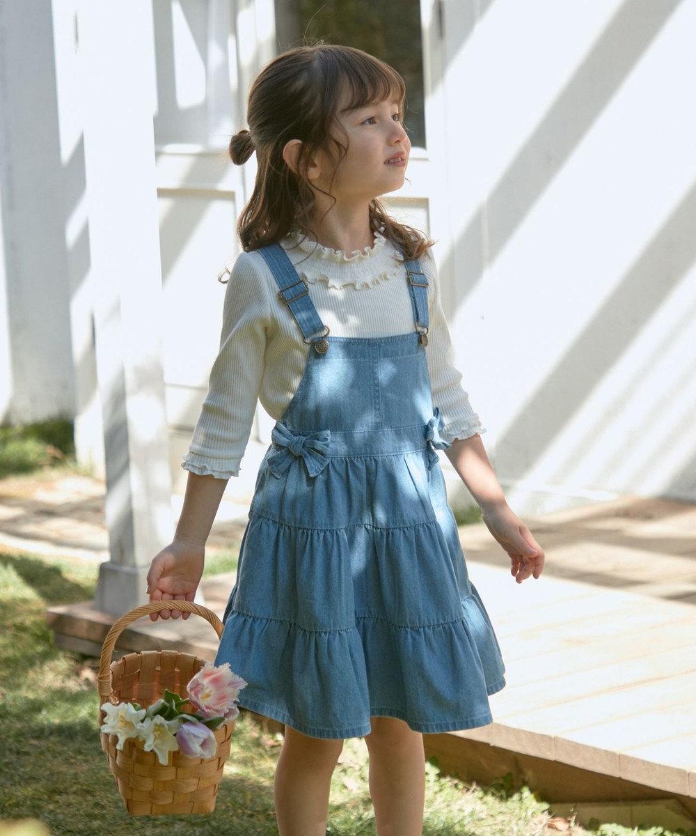 any FAM KIDS デニムティアード ジャンパースカート サックスブルー系