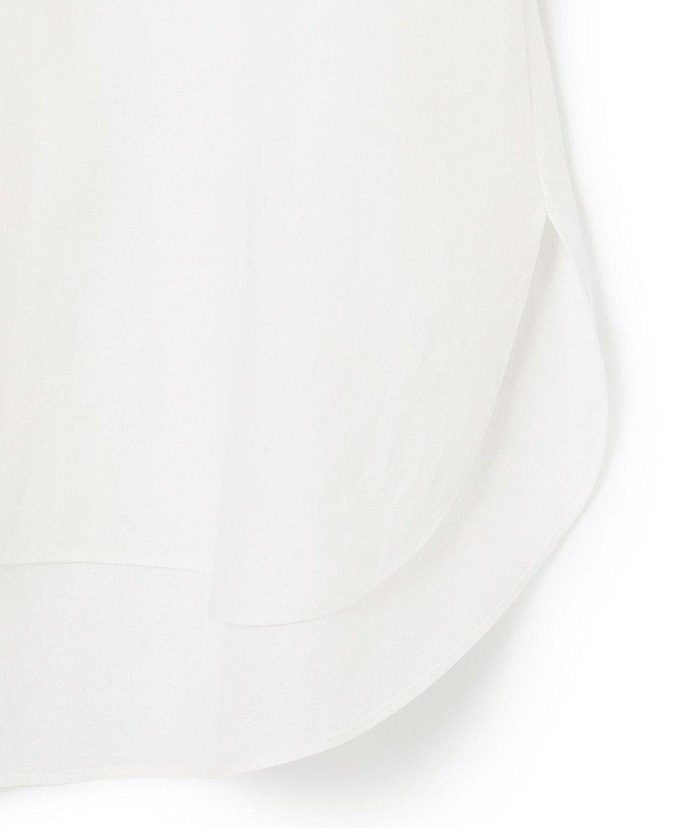 23区 【23区 lab.】ハイカウントリネン Vネック ブラウス ホワイト系