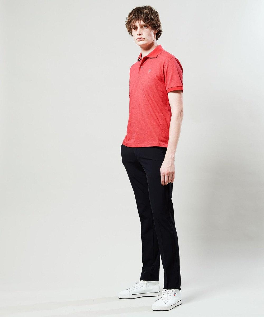 23区GOLF 【MEN】【Fondation/WEB限定】【吸汗速乾/UV/日本製】ポロシャツ ローズ系