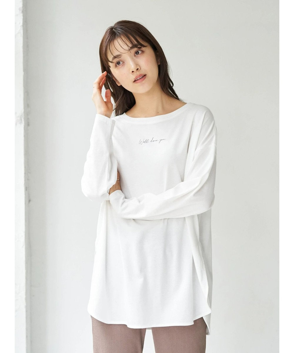 earth music&ecology Well done you ロンT Off White