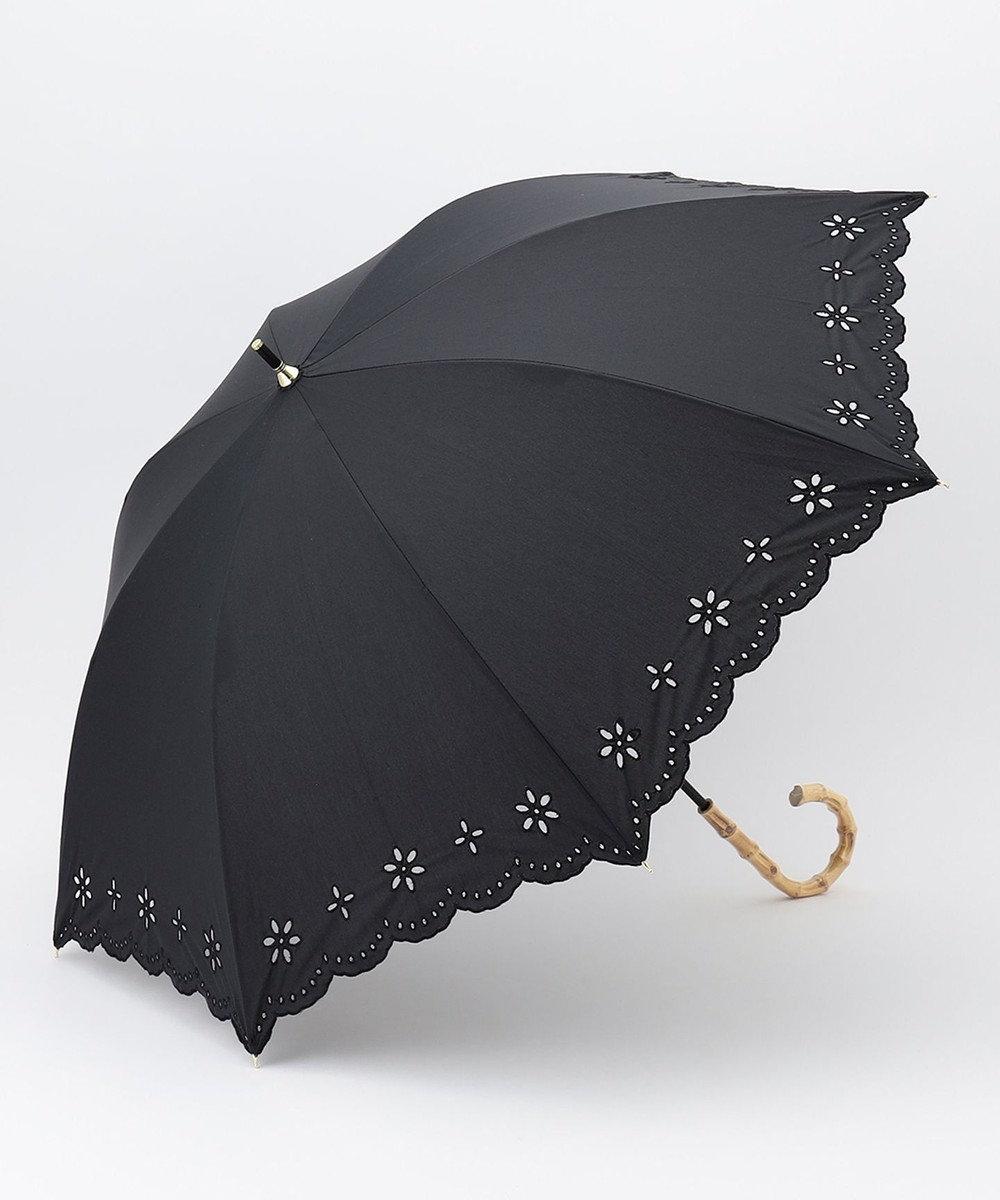 any SiS 【UVケア】カットワークレース刺繍 日傘 ブラック系