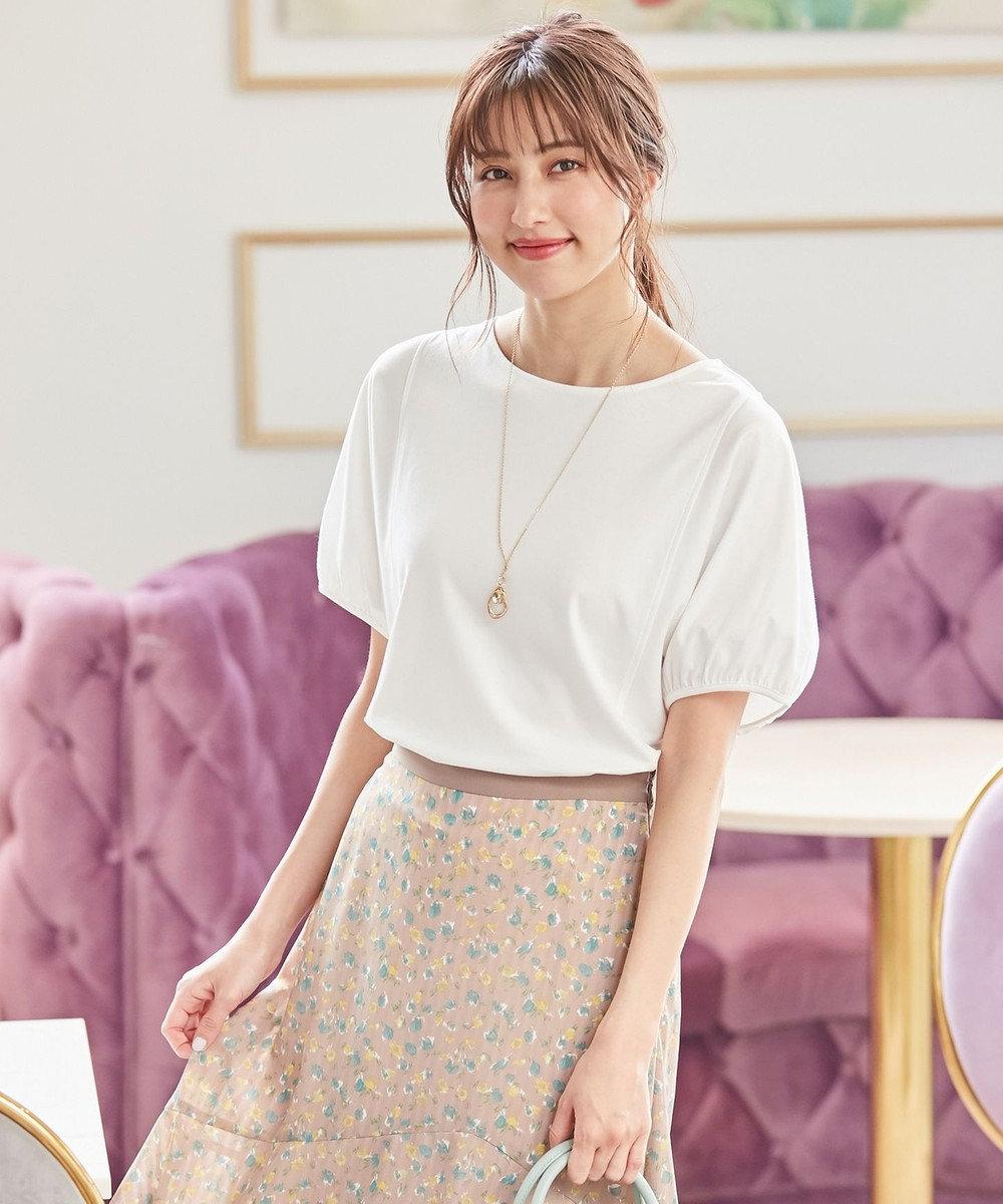 any SiS S 【UVケア】ヒーリングカラー ドルマンスリーブ Tシャツ オフホワイト