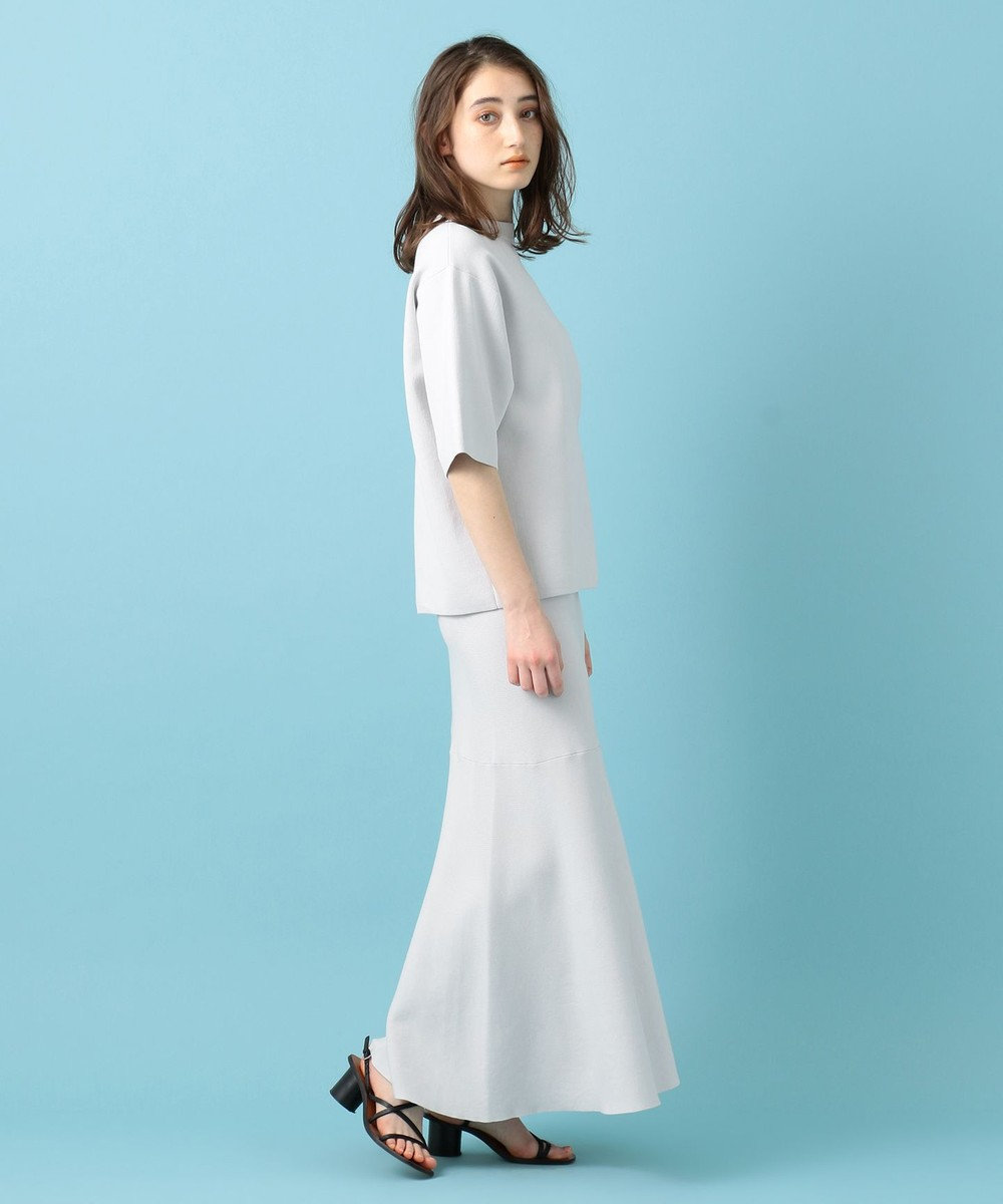 #Newans 【洗える】スムースコットンマーメイドスカート アイスグレー系