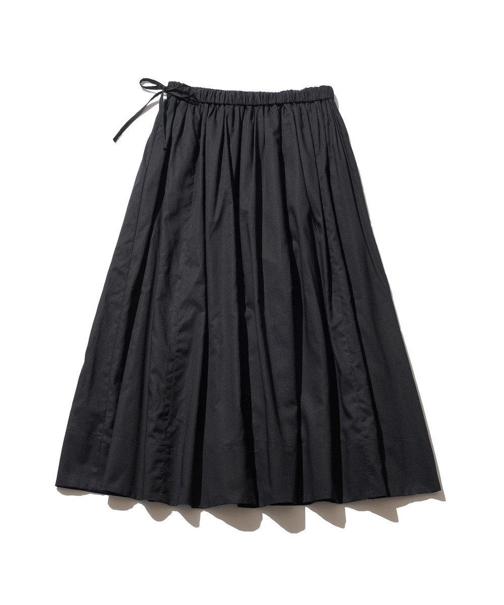 J.PRESS YORK STREET 【WOMEN】コットンボイル ギャザースカート ブラック系