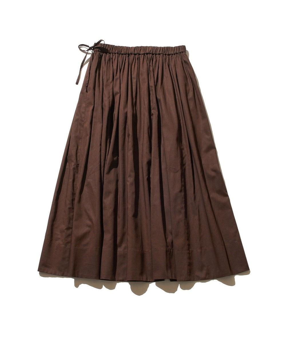 J.PRESS YORK STREET 【WOMEN】コットンボイル ギャザースカート ブラウン系