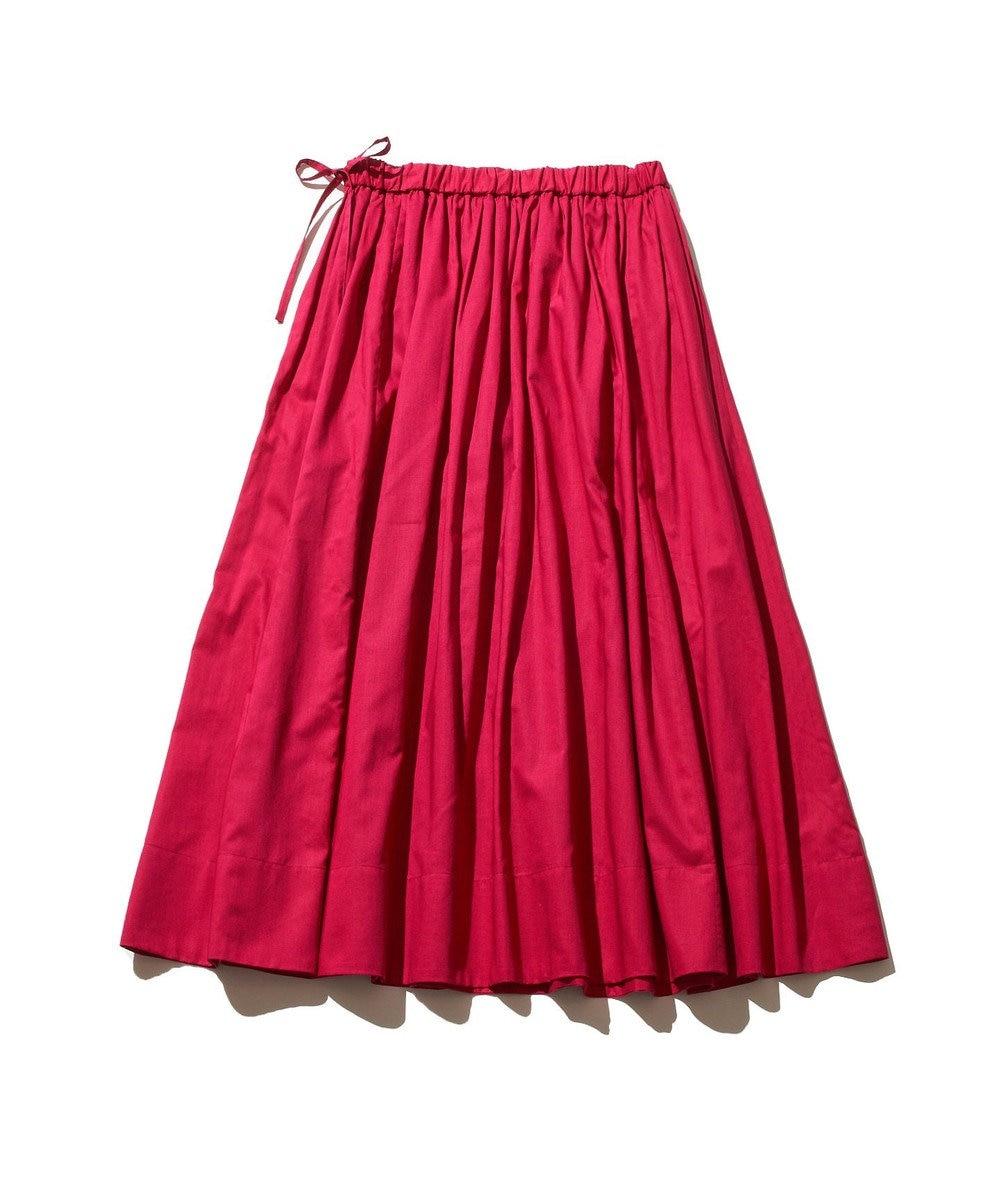 J.PRESS YORK STREET 【WOMEN】コットンボイル ギャザースカート ピンク系