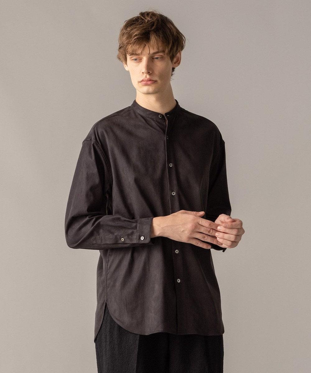JOSEPH MEN コマスウェード シャツ ブラック系