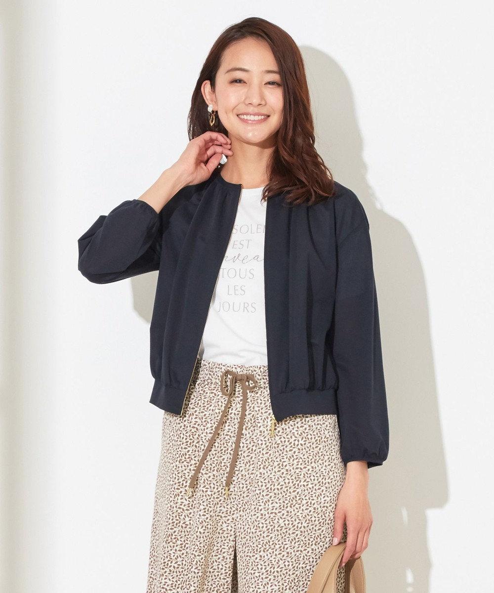 any SiS L 【洗える】カットライクシャツ ブルゾン ネイビー系