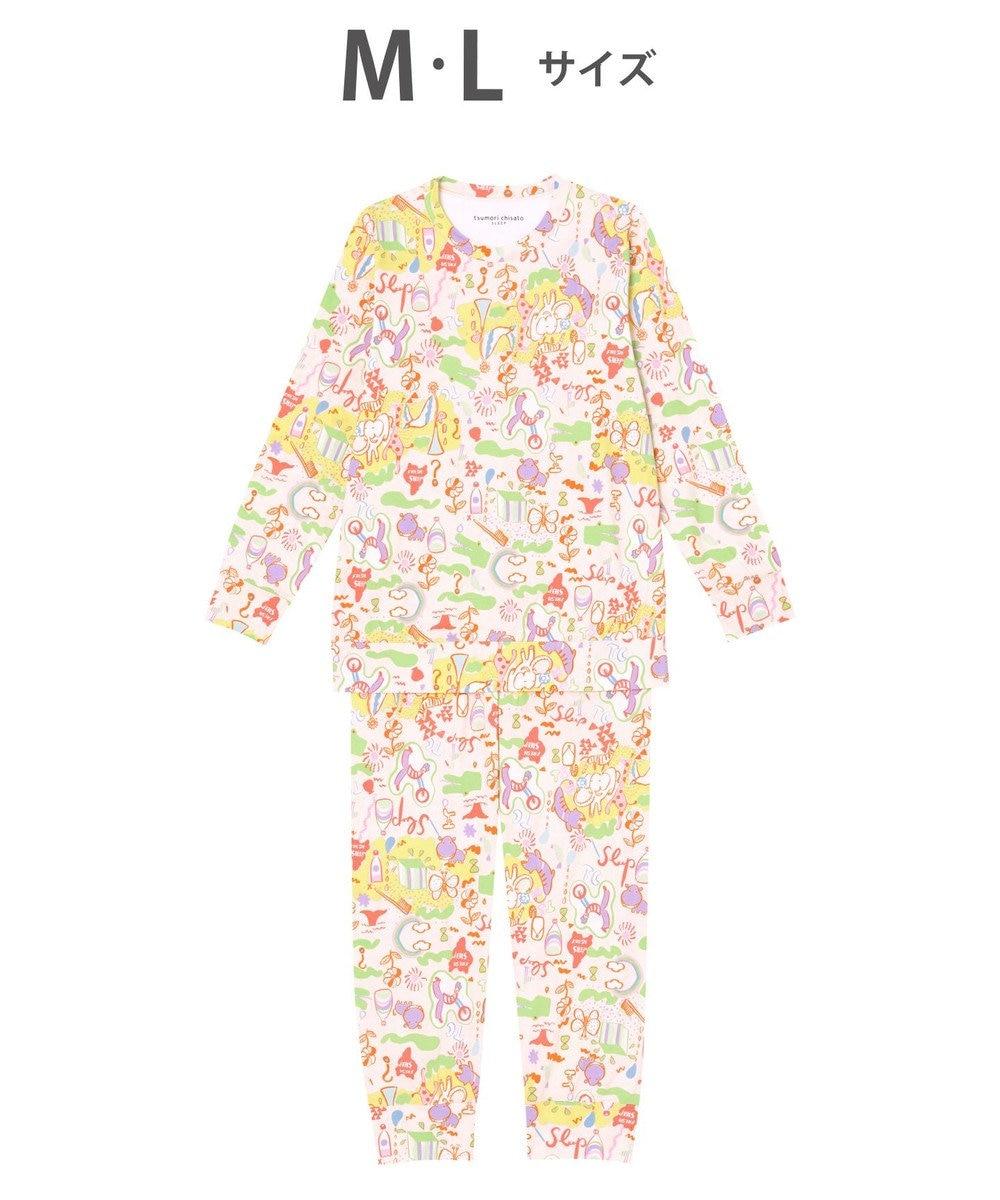 tsumori chisato SLEEP パジャマ ロング袖ロングパンツ スムース素材 /ワコール UDO259 ピンク