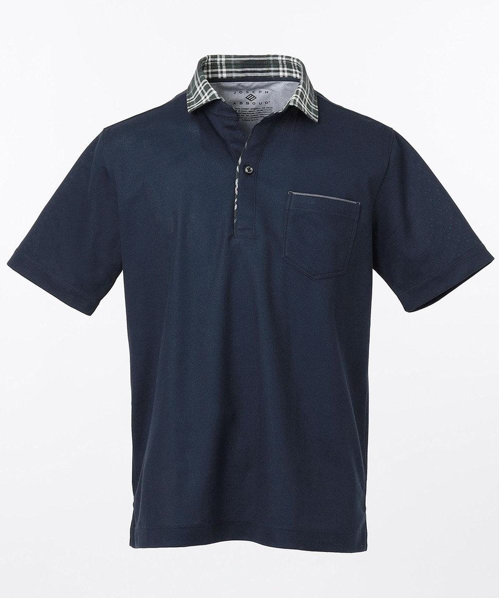 JOSEPH ABBOUD OGクールダディポロシャツ(サファリ柄・チェック柄) ネイビー系4