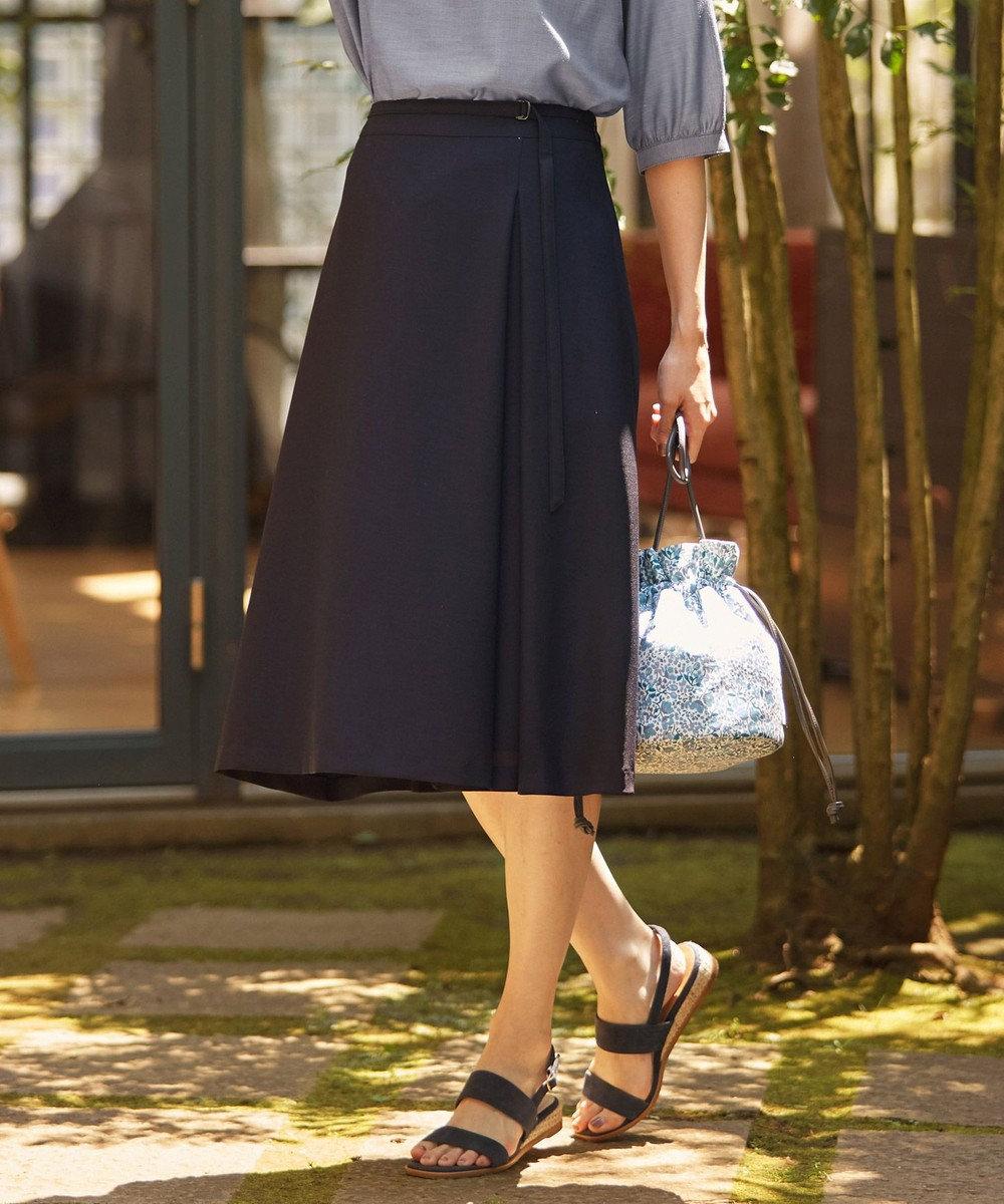 J.PRESS LADIES S 【洗える】リラクシオンツイル スカート ネイビー系