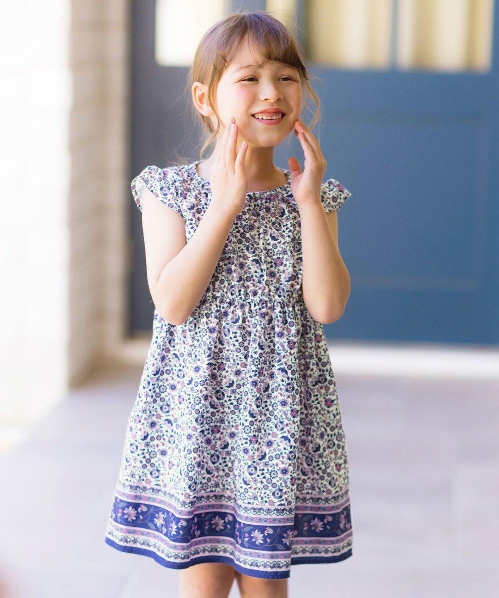 any FAM KIDS 総柄サマー ワンピース モロッカン