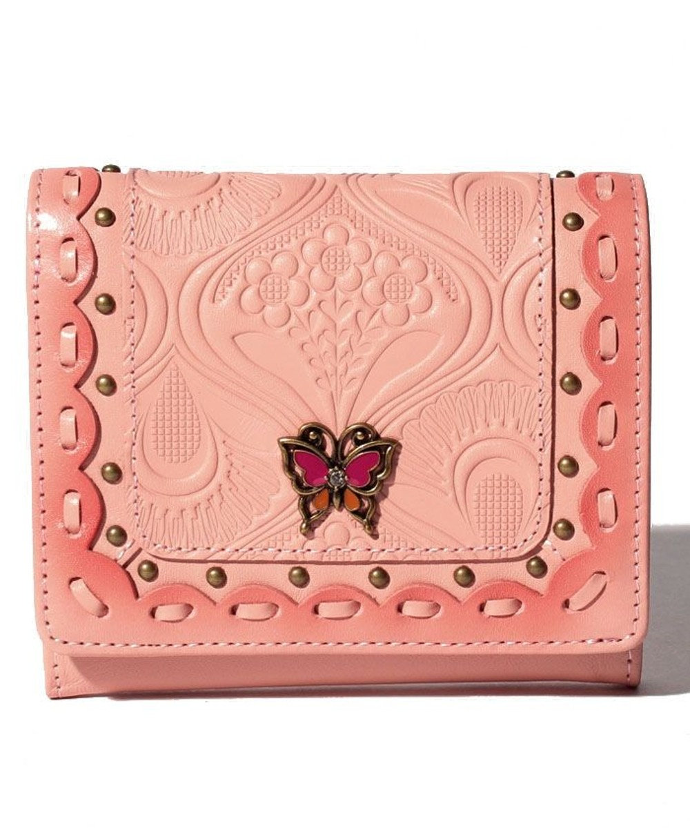 ANNA SUI シエスタ 二つ折りBOX財布 ピンク