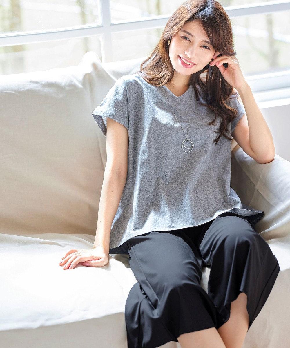 Tiaclasse 【日本製・リラックス】快適な着心地のノビテックフレアワイドパンツ ブラック