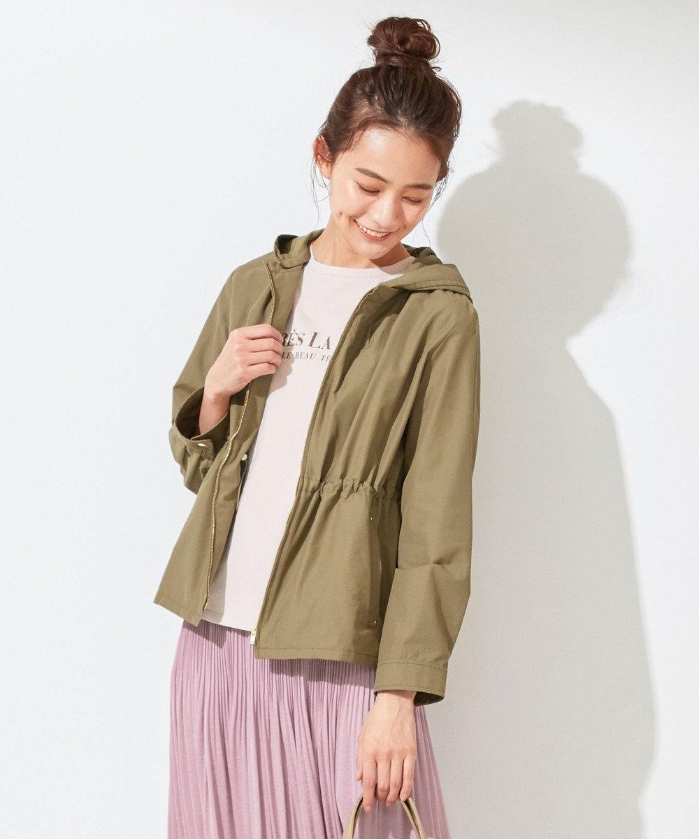 any SiS 【洗える】2WAYレディ ブルゾン カーキ系