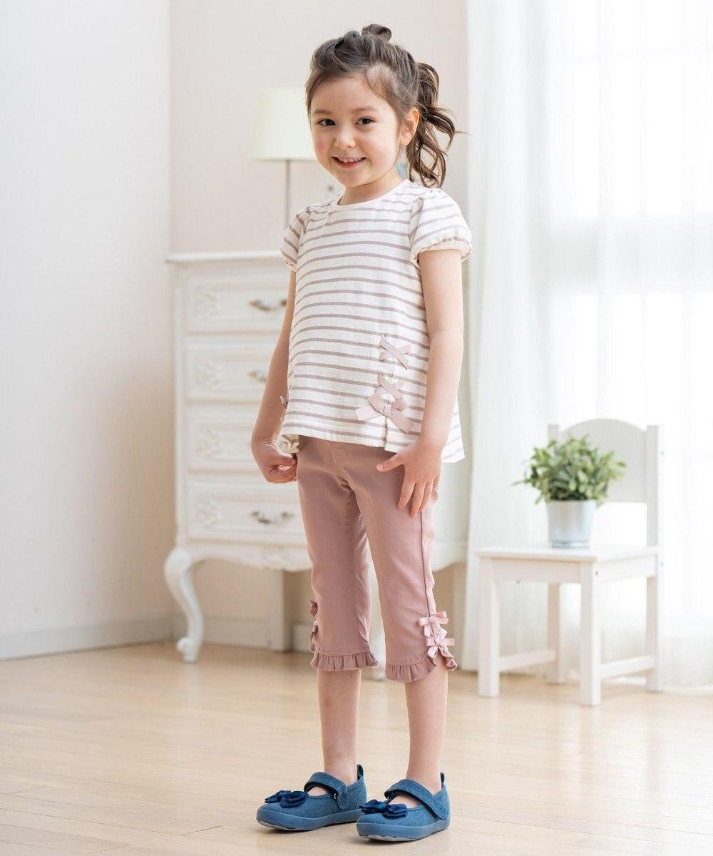 any FAM KIDS ボーダーレースアップTシャツ ライトグレー系1