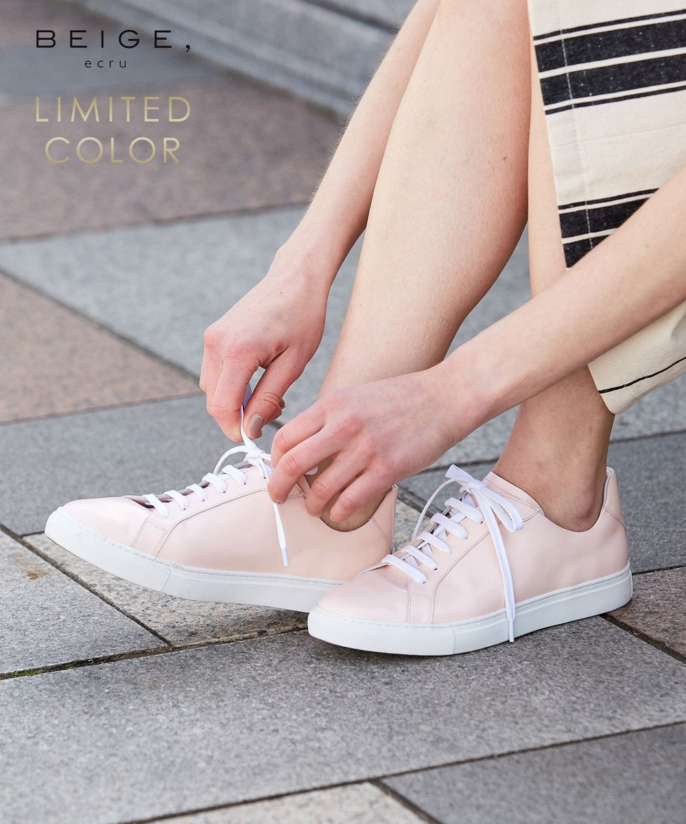 BEIGE, 【限定色・限定サイズあり】ZOEY / LACE UPスニーカー [限定]Nude