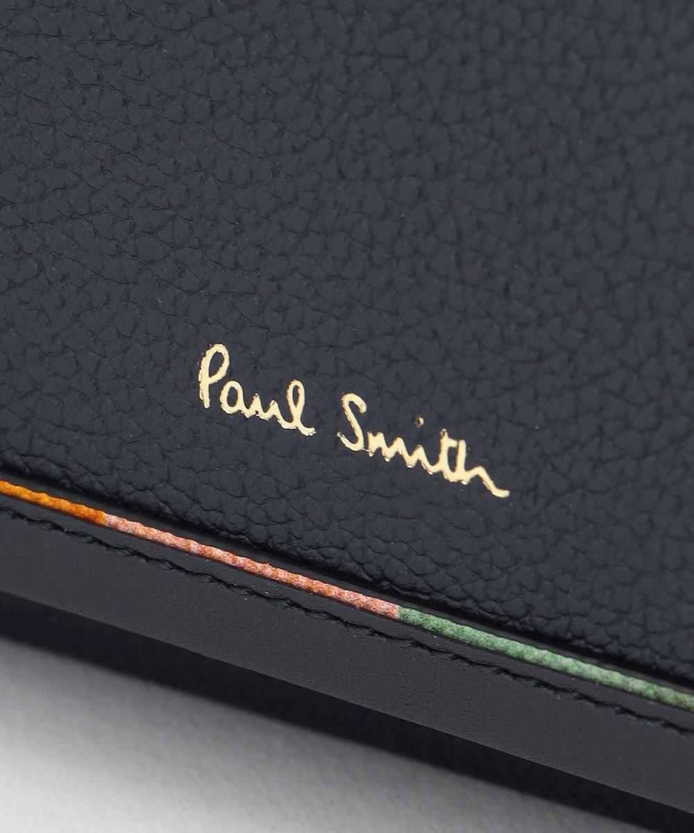 Paul Smith レイヤードストライプ 3つ折り財布 ネイビー系