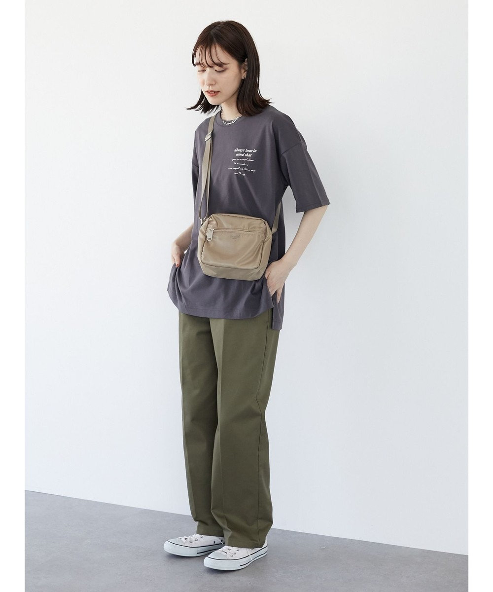 Green Parks ・RAY CASSIN バックカラー転写チュニック Charcoal Gray