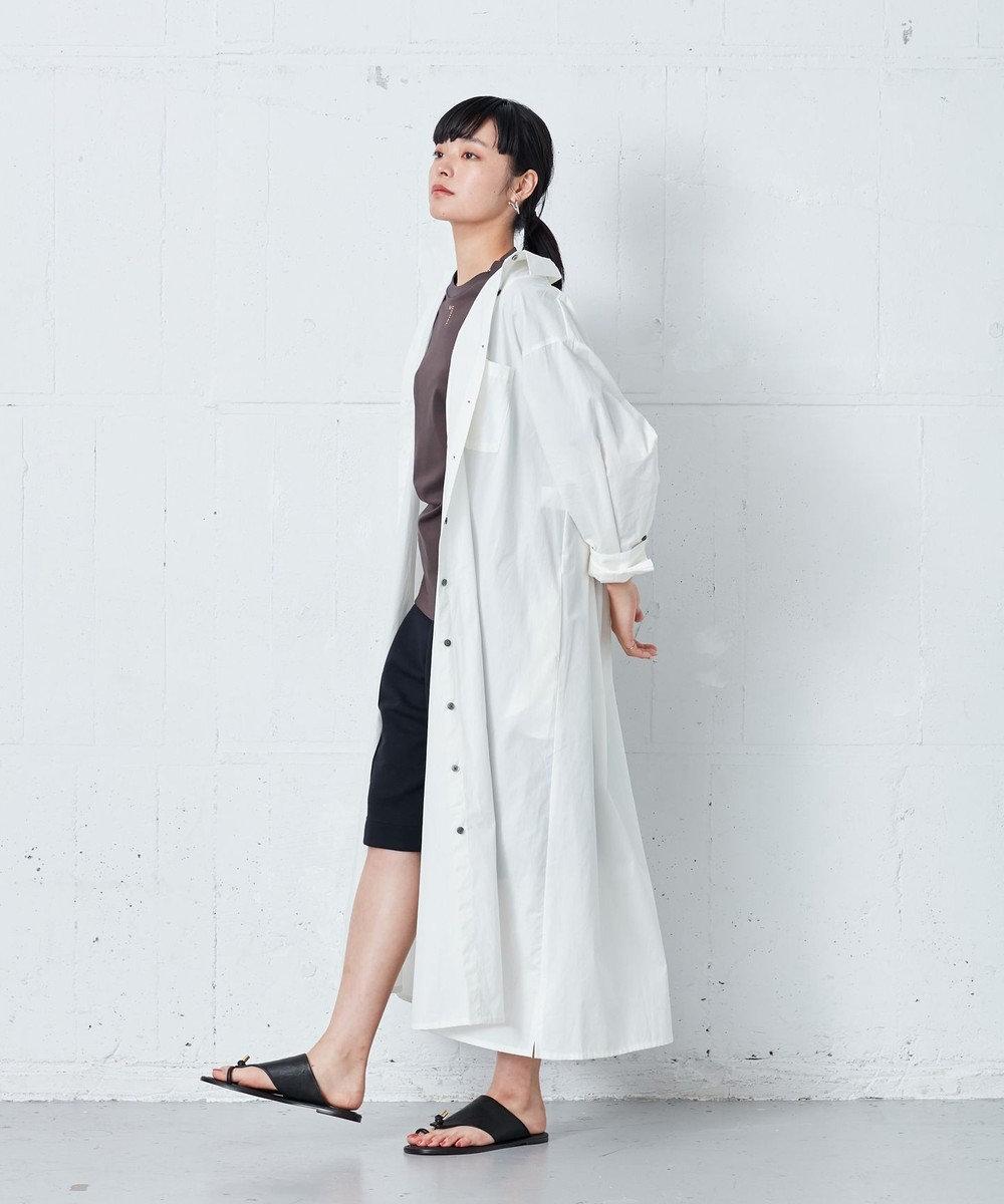 ONWARD Design Diversity 【IIQUAL】ロングシャツドレス ホワイト系