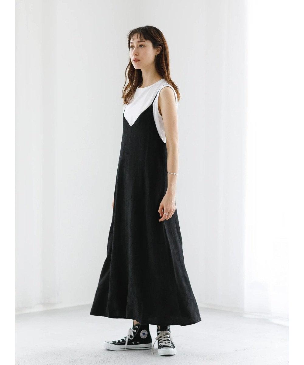 koe ・ジャガードキャミワンピース Black