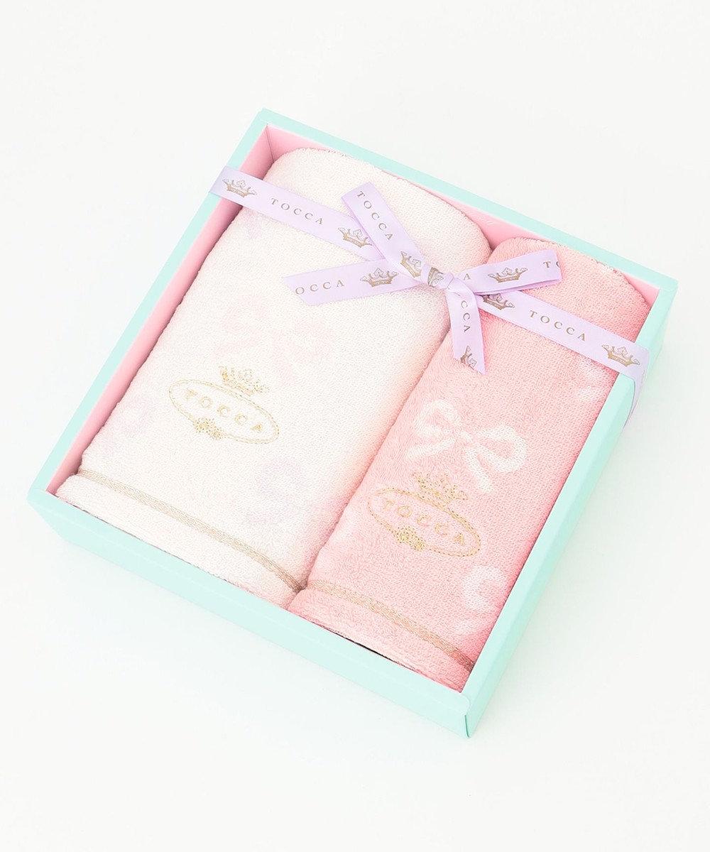 TOCCA 【TOWEL COLLECTION】MEMORIA FACE TOWELBOX フェイス&ゲストタオル ピンク系