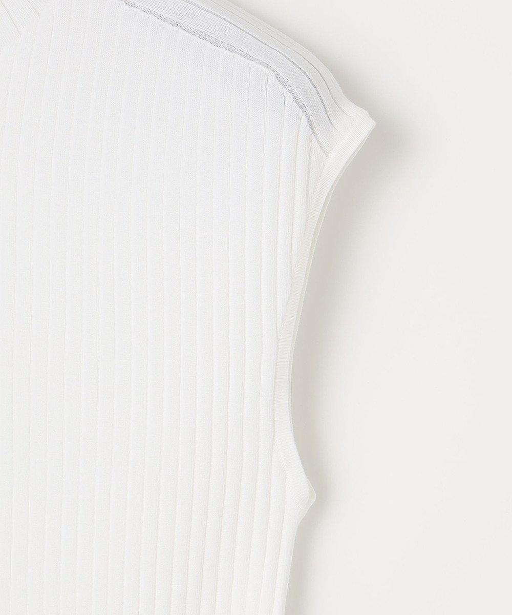 自由区 【Class Lounge】ノアールリブ ノースリーブ ニット ホワイト系