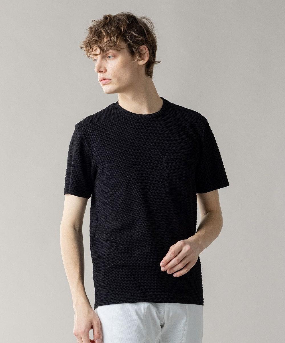 JOSEPH HOMME ライトタックジャージー クルーネックTシャツ ブラック系