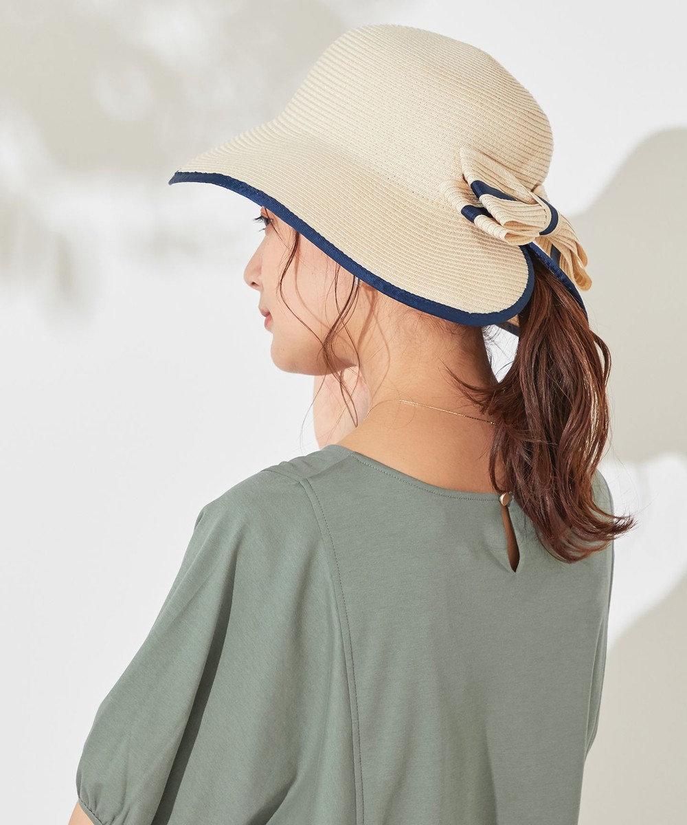 any SiS 【洗える】ウォッシャブルリボン ハット MIX×ネイビー