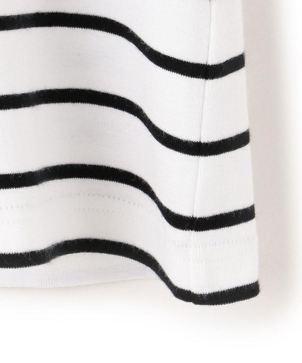 23区 【洗える】Armor lux 8分袖 カットソー ホワイト×ブラック