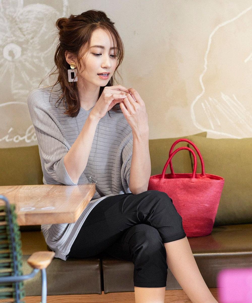 Tiaclasse 【日本製・洗える】UVカット&涼感素材の高機能クロップドパンツ ブラック