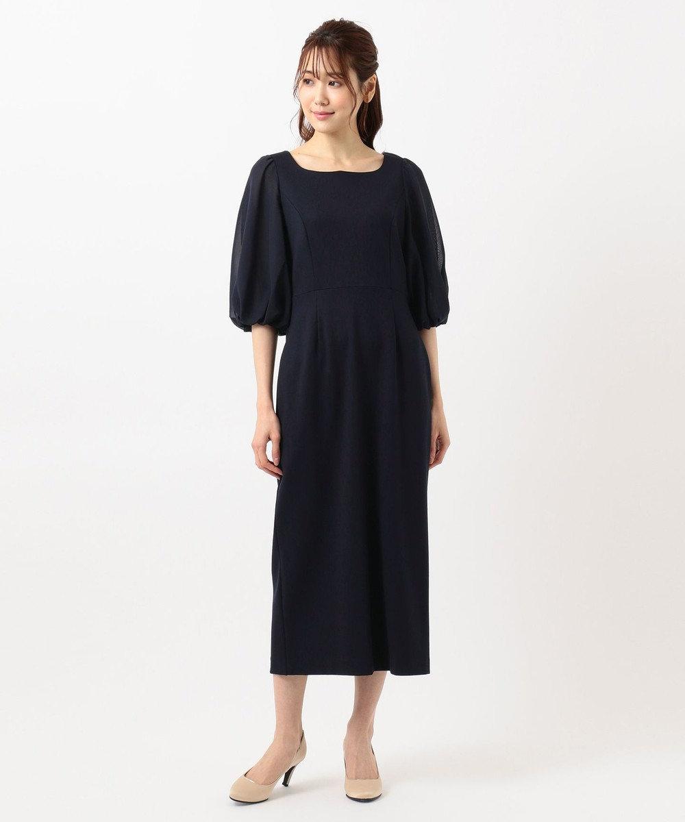 TOCCA 【TOCCA LAVENDER】Puff Sleeve Jersey Dress ドレス ネイビー