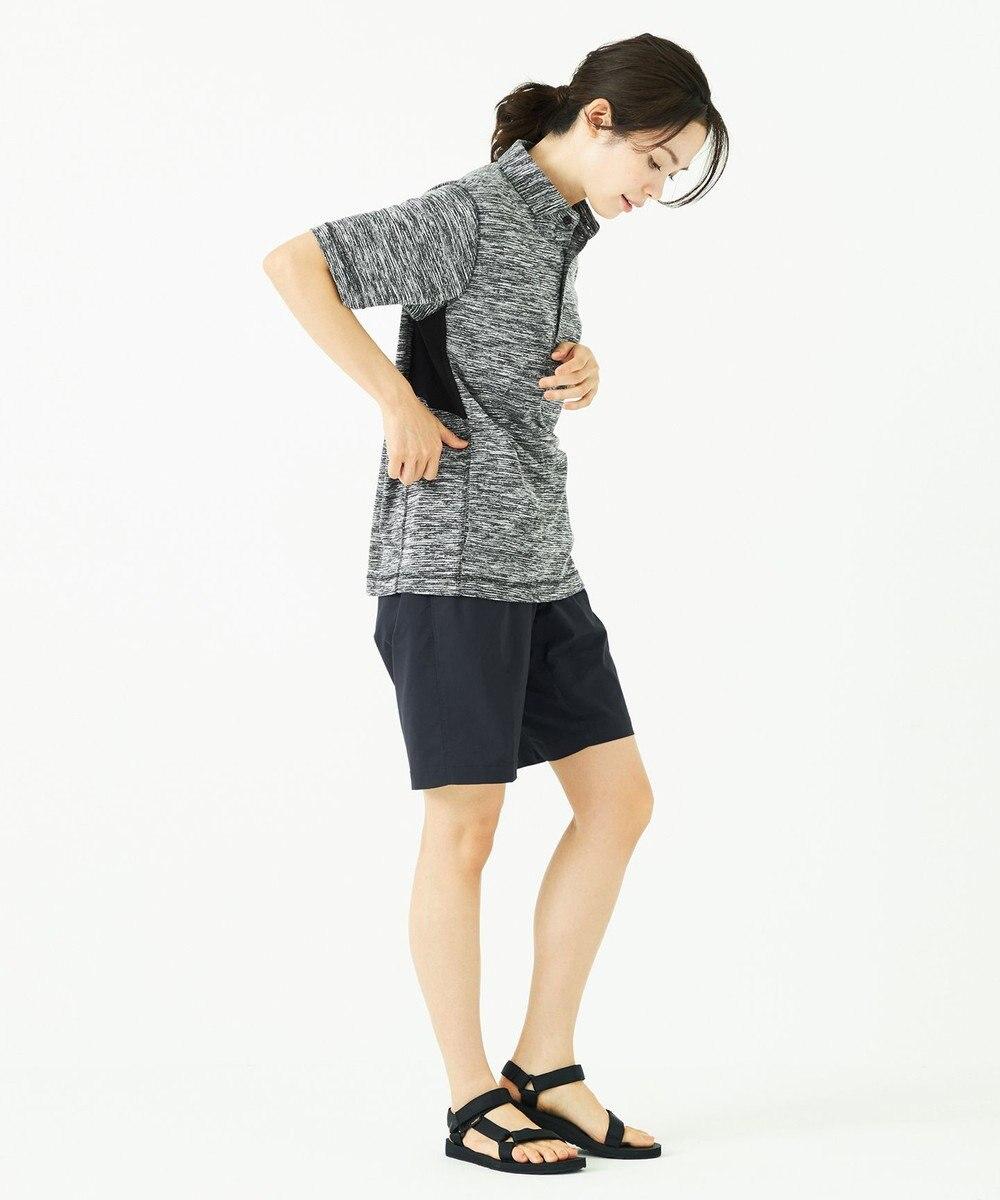 JOSEPH ABBOUD 【JOSEPH ABBOUD MOUNTAIN】ランダムスラブリップル ポロシャツ グレー系