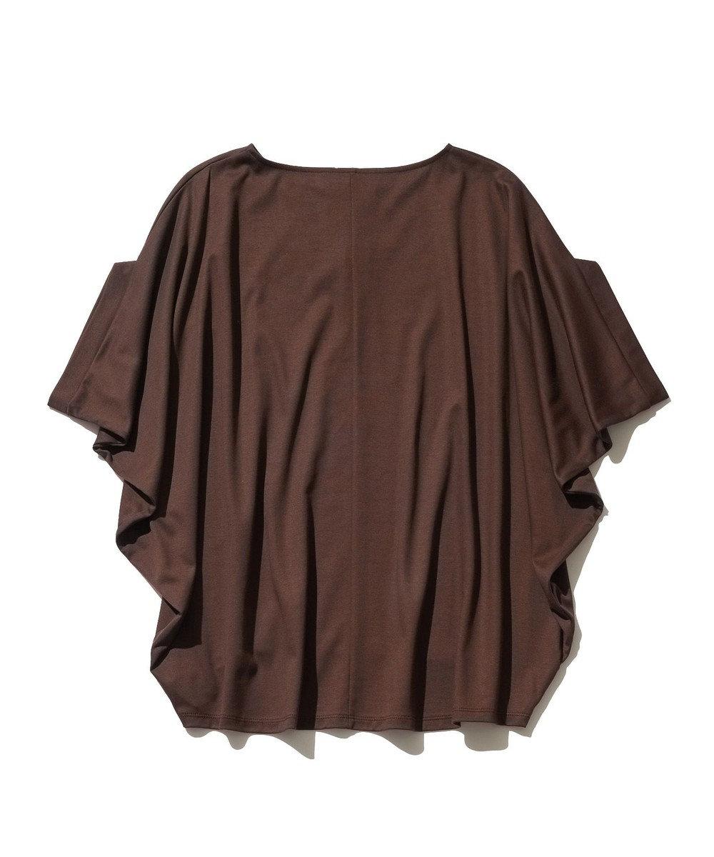 J.PRESS YORK STREET 【WOMEN】ハイゲージスムース キーネック Tシャツ ダークブラウン系