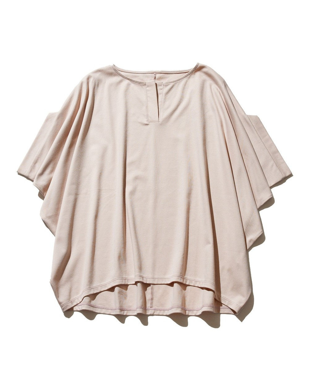 J.PRESS YORK STREET 【WOMEN】ハイゲージスムース キーネック Tシャツ ピンク系