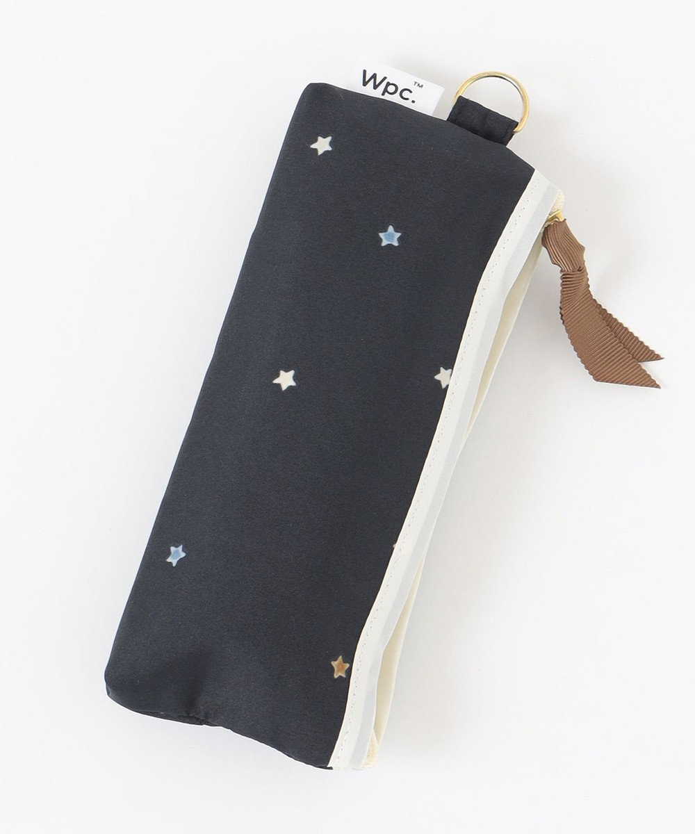 ONWARD CROSSET STORE 【Wpc】LITTLE STAR mini 雨天兼用折傘・ポーチ型収納ケース付 ブラック